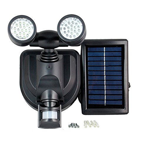 ledholyt Zwei gerichtete 38LEDs Solar Power Motion Sensor Licht menschlichen Körper Induktion Sicherheit Notfall Lampe doppelt Köpfe Zwei Kopf-notfall-licht