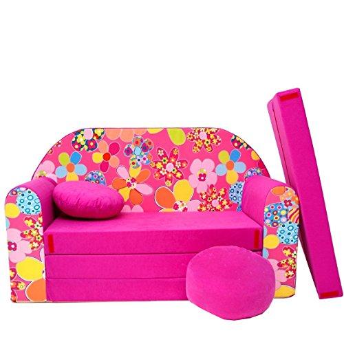 H12 + B pour Enfant Canapé Enfants Bébés Mini Canapé bébé Canapé lit Pouf Lot de 3 en 1 d'oreillers en Mousse