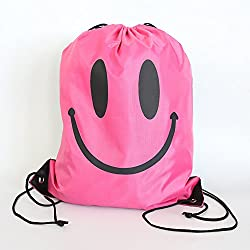 Lanlan Multifunctional Beach Bag Sport Backpack Waterproof Canvas Drawstring Bag For Travel Sport Fitness Rose Red