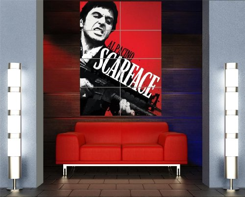 AL PACINO SCARFACE GIANT PICTURE ART PRINT POSTER PLAKAT DRUCK MR364