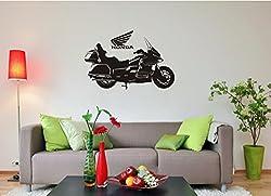 Wandtattoo - Honda GOLD WING - Motorrad (920 mm x 600 mm, M070 Schwarz)