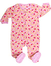 Elowel - Pijama para bebe nina, (talla 6 m-5 anos), polar, con diseno de comida de perro