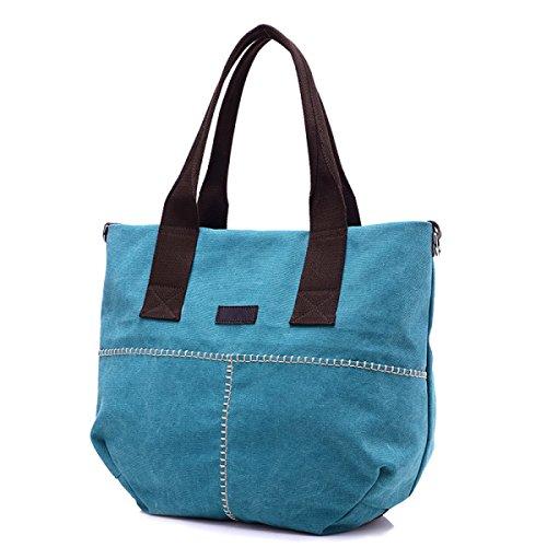 Mode Trends Segeltuchtaschen Einfach Wild Tragetaschen Handtaschen Schultertaschen Freizeit Persönlichkeit Messenger Bag Blue