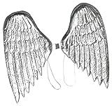Bristol Novelty Ba003Plastique Ailes d'ange, Argent, taille unique