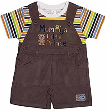 Toffyhouse Baby Boys' Dungaree (TF2196.BEIGE.12-18, Beige, 9-12 Months)