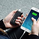 Anker Astro E1 5200mAh Mini Externer Akku Power Bank USB Ladegerät mit PowerIQ für iPhone 6s, 6, 6s Plus, Galaxy S6 S5 und weitere (Schwarz)
