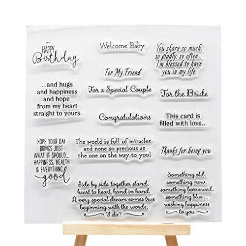 sunhoyu DIY Silikon Klar Stempel, Transparenter Stempel mit kreativen Bildern für Scrapbooking und Dekoration Schöne Abzeichen & KalenderSchöne Gänseblümchen # -