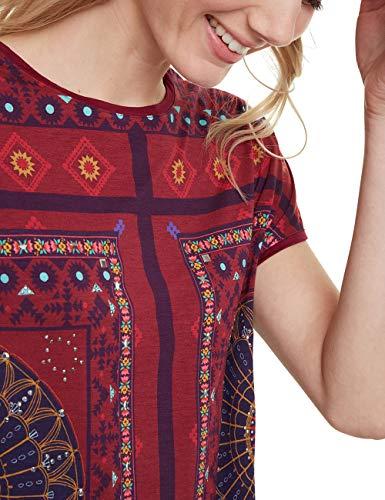Desigual Women's T-Shirt Larisa Red (Carmin 3000), X-Large Img 3 Zoom