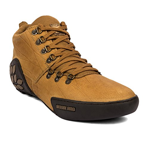 Woodland Men's Leather Casual Shoes – Camel