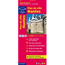 Nantes Plan de Ville 1 : 13 000 (Ign Map)
