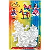 Hama - 4560H - Loisirs Créatifs - Blister 3 Plaques pour Perles à Repasser Midi - Princesse/Cheval/Papillon