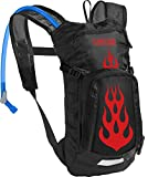 Camelbak Products LLC Camelbak Kid's Mini M.U.L.E. Hydration Pack Trinkrucksack, Black/Flames, 50 oz