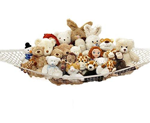 Forepin® Animale farcito Organizzatore / giocattolo Hammock Pet bagagli Net, Jumbo giocattolo rete amaca Organizza Stuffed Animals, giocattolo bagagli Amaca con 3 Ganci (150x100x100cm)