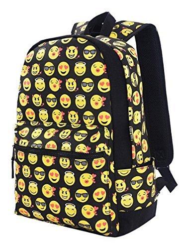 Imagen de wuiyepo regreso a la clase sonriente cara casual daypacks emoji escuela libro bolsos