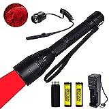 Rotlicht-LED-Taschenlampe, taktische Jagd-Taschenlampe-Taschenlampen Fokus justierbares Coyote-Schwein-Jagdlicht mit Fer