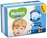 Huggies Bimbo 4, Windeln für Jungen, Maxi: 7-18 kg, 17 Stück