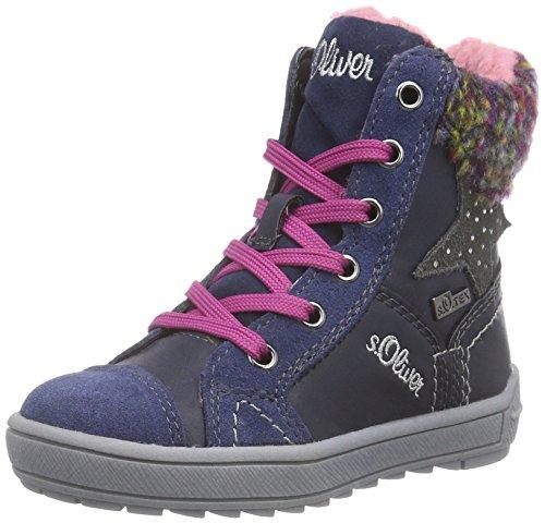 s.Oliver 36204, Sneaker alta Ragazza Blu (Blu (Navy 805))