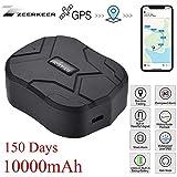 Zeerkeer GPS Tracker , 150 Tage Lang Standby GPS Ortung, Wasserdicht Echtzeit tracking GPS Locator, Professional Anti-verloren ,GPS Alarm Car Tracker für Auto lkw Moto Gefrier Boot mit Freier APP