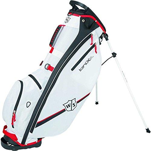 Wilson Staff Ionix SL Carry/Stand Golf Bag Weiß 2018& Freien Gesellschaft Tee Pack