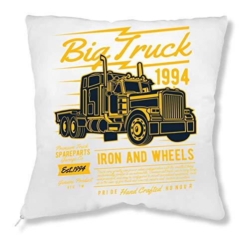 LukeTee Big Truck 1994 Iron and Wheels Monster Truck Kissen