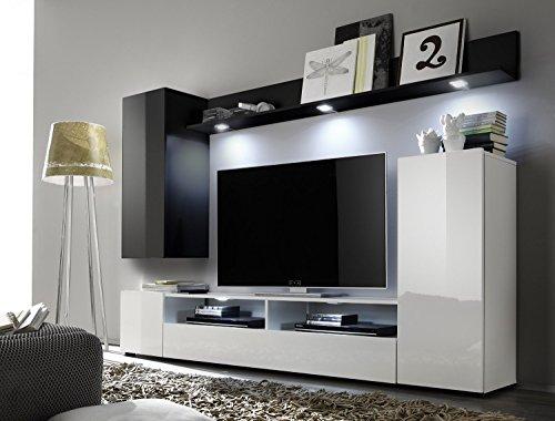 Soggiorno moderno Teseo, composizione mobile porta tv con led ...