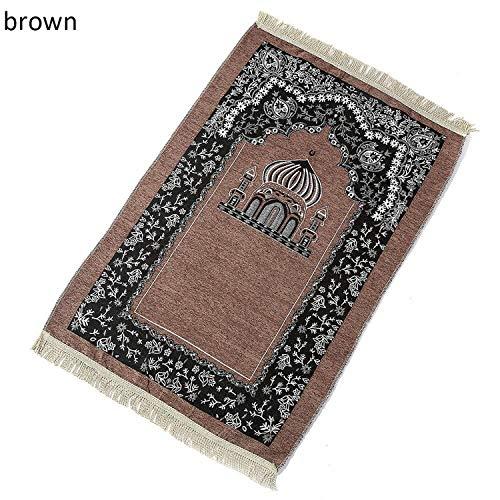 1/2/3/4/5 x oración Mat Bordado Suave Manta Manta islámico musulmán de la Borla de la decoración...