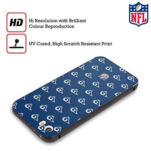 Ufficiale NFL Pattern 2017/18 Los Angeles Rams Nero Cover Contorno con Bumper in Alluminio per Apple iPhone 6 Plus / 6s Plus Pattern