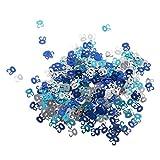 MagiDeal Jahrestag Geburtstag Weihnachten Hochzeit Party Mettalic Confetti Tischdeko Konfetti - Blau+Silber 50