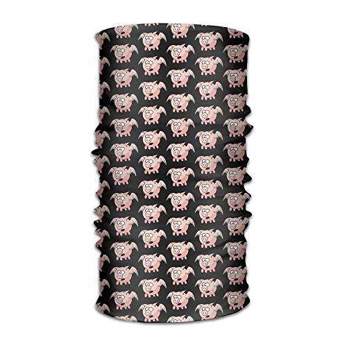 Bandana Headband Stylish Cute Pink Pig Flies Multifunction Magic Handscarf,Face Mask,Neck Gaiter,Balaclava,Sweatband,Head Wrap,Outdoor Sport UV Resistence. Balaclava Windproof Ski Face Mask No Unisex4