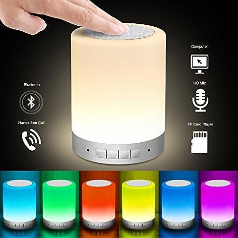 LED Nachtlicht - Elecstars Night Light mit Bluetooth-Lautsprecher Dimmbare Nachtlicht dem Rhythmus der Musik folgt - groß für Schlafzimmer, Wohnzimmer, Patio etc. 1600 Millionen Farbverlaufsfarben