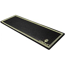 LUMIAN Bar Mat Alfombrilla Barman Goma Suave, Color Dorado.