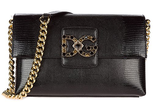Dolce & Gabbana Schultertasche Leder Damen Tasche Umhängetasche Bag millenials Sch