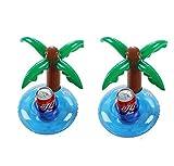 Upsky Aufblasbare Getränkehalter Palm Island Aufblasbare Pool Coasters 2 Stück