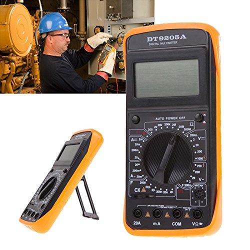 DT-9205A Digitales Multimeter, LCD-Display, Voltmeter, Amperemeter, Volt, Ampere, Ohm, professionelles Handmessgerät, digitales LCD-Multimeter Dt Lcd