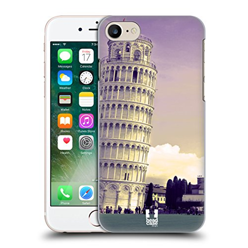 Head Case Designs Brooklyn Bridge New York Il Meglio Di Ogni Posto Cover Retro Rigida per Apple iPhone 7 / 8 Torre Pendente Di Pisa Italia