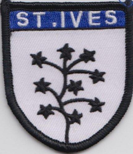 st-ives-cornwall-contea-distintivo-patch-ricamato-bandiera