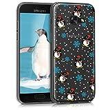 kwmobile Samsung Galaxy A3 (2017) Hülle - Handyhülle für Samsung Galaxy A3 (2017) - Handy Case in Schwarz Hellblau Transparent