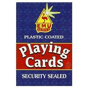 plastic coated playing cards amazon