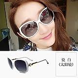 GPC Polarisierte Sonnenbrille weibliche UVschutzgläser runder Gesichtssonnenschutz-Sonnenbrillefluten-Sterngesicht,B,Sonnenbrille