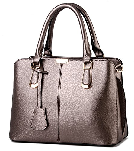 U-shot da donna in pelle PU borsa a tracolla Hobo Bag Brown