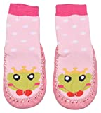 Yellow Bee Girls' Cotton Anti-Skid Socks