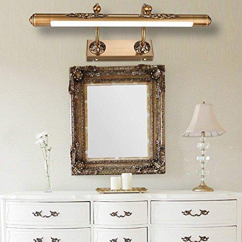 SED Spiegel-Scheinwerfer-Badezimmer-Spiegel-Lampe führte integrierte traditionelle Weinlese-antike Messingfunktion für geführtes helles Wasserdichtes und Anti-Fog-Wand-Licht,60cm-11w (Badezimmer-spiegel Traditionelle)