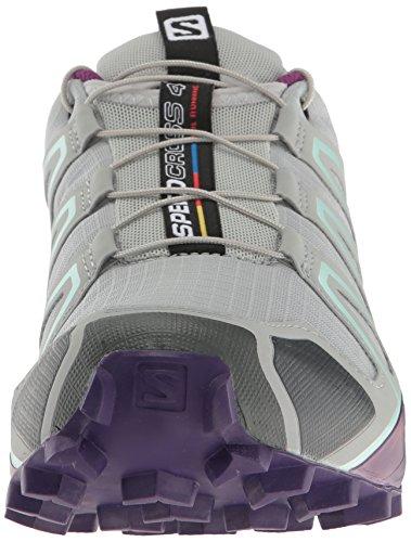 Salomon Speedcross 4 W, Chaussures de Trail Femme, Rouge grau / lila / mint
