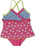 Playshoes Mädchen Einteiler Badeanzug mit Rock Blumen, UV-Schutz nach Standard 801 und Oeko-Tex Standard 100, Gr. 122 (Herstellergröße: 122/128), Mehrfarbig (original 900)