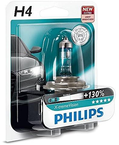 Philips 12342XV+B1 Philips X-tremeVision halogen headlamp H4 12342 XV+ 12V 60/55W P43T B1 +130% more light 45m longer beam, Set of 1