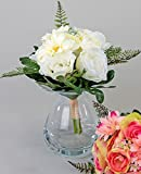 Formano Rosen Strauß creme grün Rosenstrauß Kunstblume Kunstrose Blume Dekoration Frühling 646323