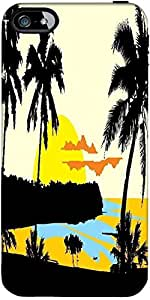 Snoogg tropical landscape Hard Back Case Cover Shield ForForApple Iphone 5C / Iphone 5c