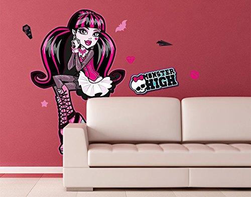 Klebefieber Wandtattoo Monster High Draculaura B x H: 50cm x 76cm (Monster High Ghoulia Brille)
