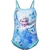 Disney Frozen Anna Elsa Mädchen Bademode (Blau , 8 Jahre)