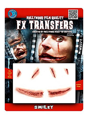 FX Transfers Smiley Make-Up Set für Halloween, Karneval und - Make-up Halloween-lächeln,
